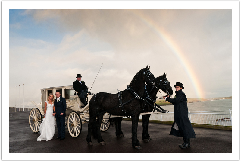 Rainbow over Dunmore House Winter Wedding