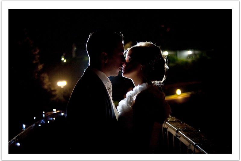 Romantic Evening Wedding Photograph
