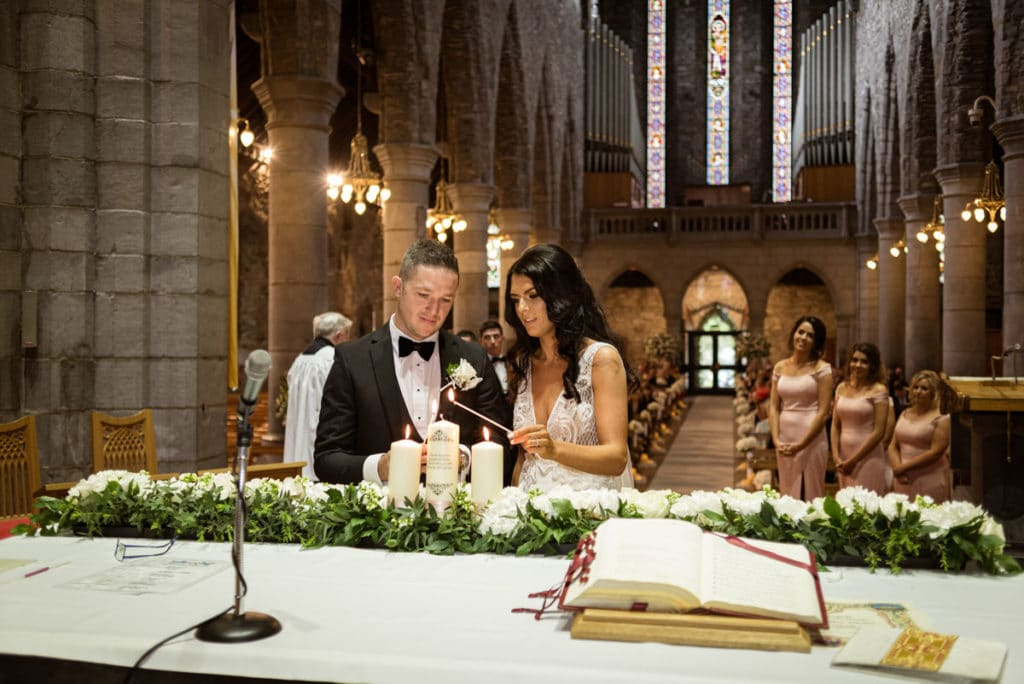 Killarney Cathedral Wedding Candles