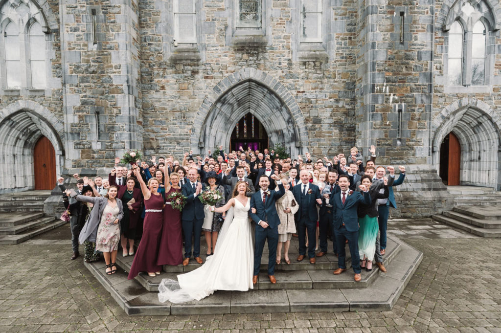 Killarney Cathedral Wedding Group Photograph