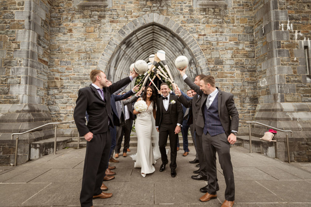 Killarney Cathedral Wedding Guard Of Honour