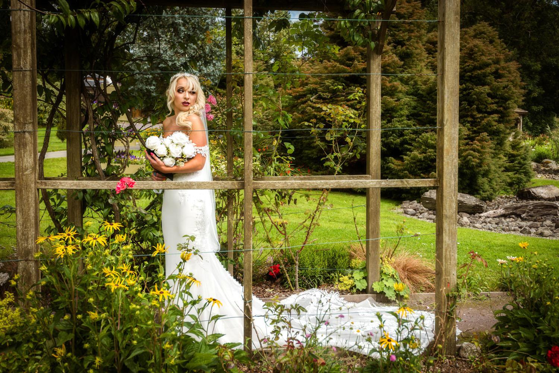 Wedding Dress Photo Shoot, Bride in an Irish Garden