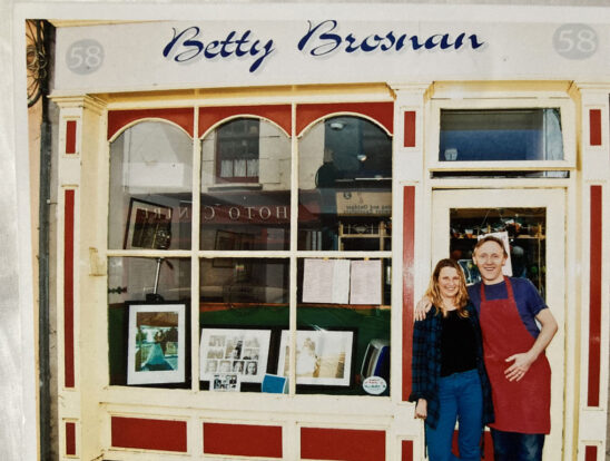 Dermot and Mari Sullivan outside their Cafe and photography gallery